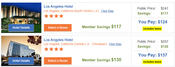 Sample Hotels